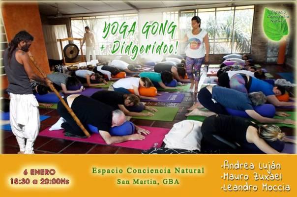 yoga cuencos gong